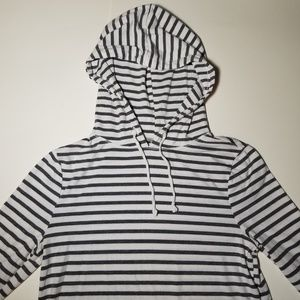 Old Navy Striped Lightweight Pullover Hoodie